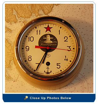Russian Submarine 8-Day Bulkhead Clock