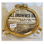 "18"" Solid Brass Porthole Cover"