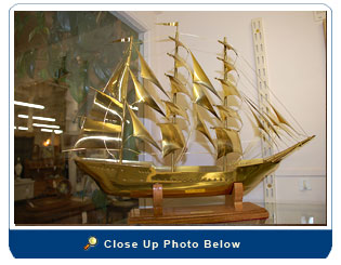 Solid Brass Clipper Ship